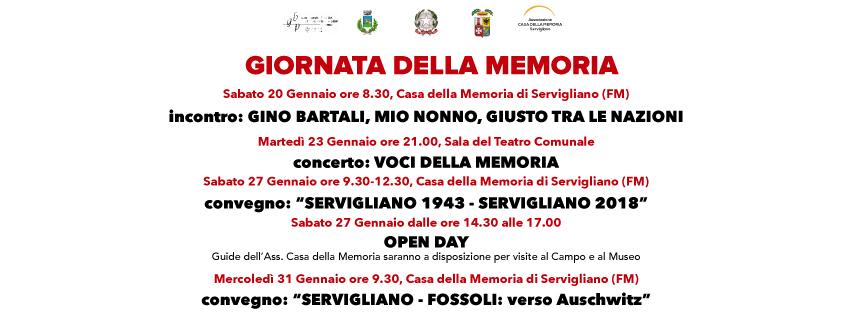 Giornata della Memoria 2018 – programma